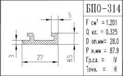 The BPO brand construction aluminum shape - 314