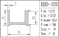The BPO brand construction aluminum shape - 320