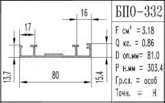 The BPO brand construction aluminum shape - 332