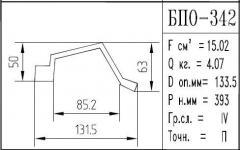 The BPO brand construction aluminum shape - 342