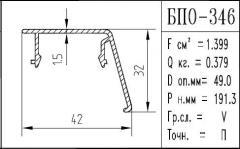 The BPO brand construction aluminum shape - 346