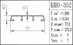 The BPO brand construction aluminum shape - 352
