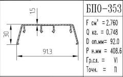 The BPO brand construction aluminum shape - 353
