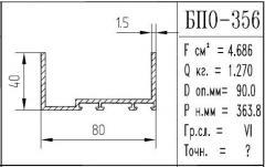 The BPO brand construction aluminum shape - 356