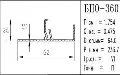 The BPO brand construction aluminum shape - 360