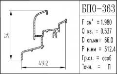 The BPO brand construction aluminum shape - 363