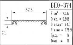 The BPO brand construction aluminum shape - 374