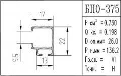 The BPO brand construction aluminum shape - 375