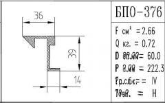 The BPO brand construction aluminum shape - 376