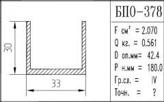 The BPO brand construction aluminum shape - 378