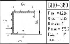 The BPO brand construction aluminum shape - 380