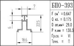The BPO brand construction aluminum shape - 393
