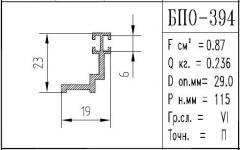 The BPO brand construction aluminum shape - 394