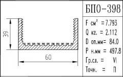 The BPO brand construction aluminum shape - 398