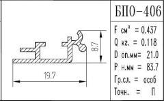 The BPO brand construction aluminum shape - 406