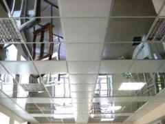 Касеты металические потолочные 600*600мм зеркало