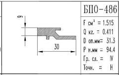 The BPO brand construction aluminum shape - 486
