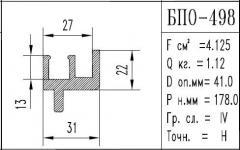 The BPO brand construction aluminum shape - 498