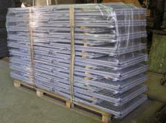 Containers mesh pallet folding with the cover