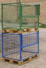 The container is mesh folding multilevel