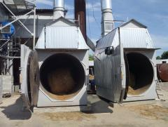 The TGS-500 heatgenerator on straw (biomass)