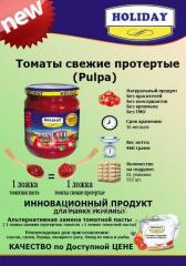 The wiped pulp of tomatoes (Tomato pulp) of Pulpa
