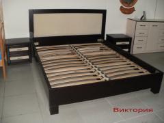 """Кровать """"Виктория"""" из ольхи"""