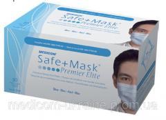 Маски Safe+Mask Premier на завязках голубого или зеленого цвета 2000
