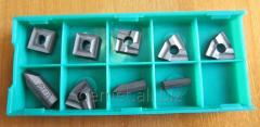 Hard-alloy inserts of 9 pieces from carbide for