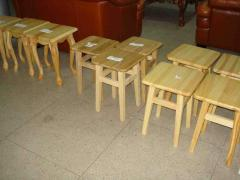 Stools from a natural tree. Goods from the