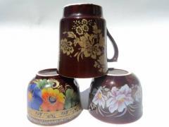 Cups souvenir from the producer. Expor