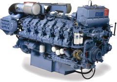 Ship diesel MAK 551 AK, SULZER 8ZL 40/48