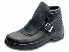 Ботинки рабочие, юфтевые, на ПУП с металлическим