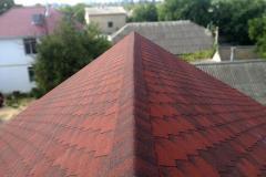 Bituminous tile, color brown, red, green