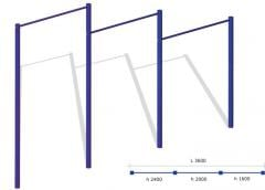 Horizontal bar in three T3U levels