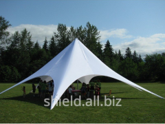 The tent for outdoor cafes and restaurants