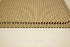 Corrugated cardboard 2kh layer DB brown