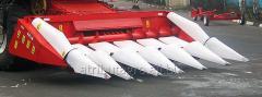 Corn harvester of OROS on Keyes, John Deere,