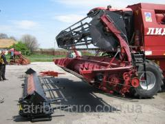 Top box, a device for cleaning the CCD on soybean harvesters Top Liner, Laverda.