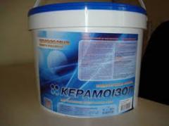 Обмазочный утеплитель Керамоизол ведро 1л, жидкая теплоизоляция стен.