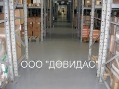 Floors are polymeric bulk. We offer floors