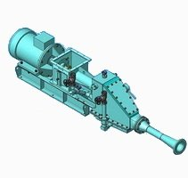The screw pump (pneumatic) NPV-60 for cement,