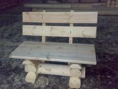 Скамейки садовые деревянные
