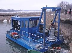 The dredge on the basis of a submersible pump
