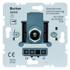 Turn-push dimmer of 1000 W of Berker S.1