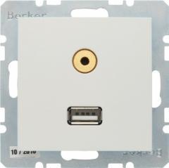 Розетка Berker S1 USB / 3,5 мм Audio