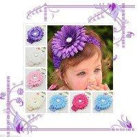 Детская повязка на голову Большой красивый цветок