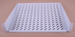 Полка консольная 400-450мм, 2U, цвет серый