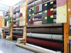 Equipment for demonstration of linoleum (carpet)