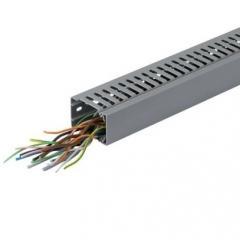Перфорированный кабельный канал BA7A, 60х40, серый